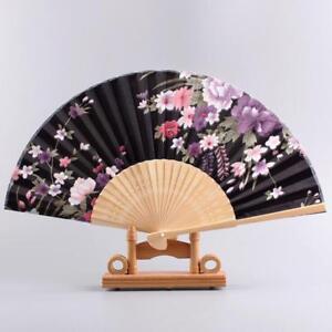 Expédié De Paris - Eventails Ete Fleur De Prunier Japonais Nippon Ancien Bambou