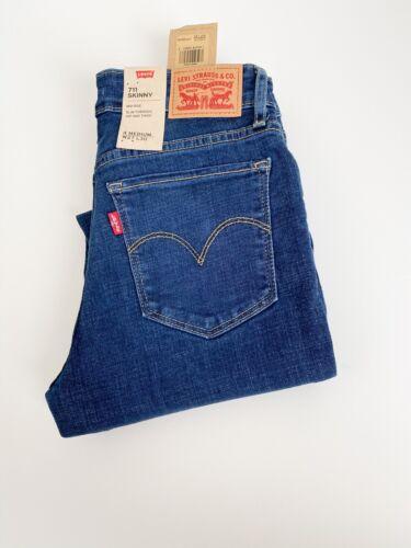 Levi's 711 Jeans Women's Mid Rise Skinny Indigo  Blue Style # 188810452 W28//L30