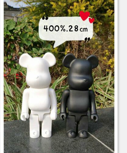 Bearbrick 400/% DIY PAINT COLOR BLACK WHITE PVC 28CM Action Figure Toy TOY