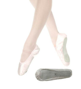 satin ballet shoes pale pink or white sole children s