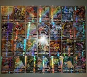 60-ULTRA-RARE-Holographic-Pokemon-GX-Card-Lot-Fake-No-Repeats
