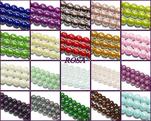 KP080-200-Glaswachsperlen-Kugeln-vers-Farben-amp-Groessen-Perle