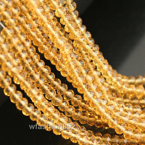 1string 100pcs 6mm Czech crystal Glass Loose Beads Faceted Rondelle pick Color