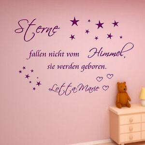 Himmel kinderzimmer  Wandtattoo Sterne fallen nicht vom Himmel Wand Tattoo Kinderzimmer ...