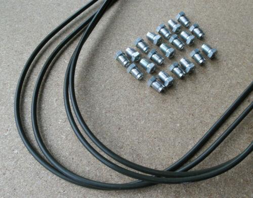 2x Bremsleitung 6 mm Überwurfschrauben M12 x 1 Verschraubung Bördel E