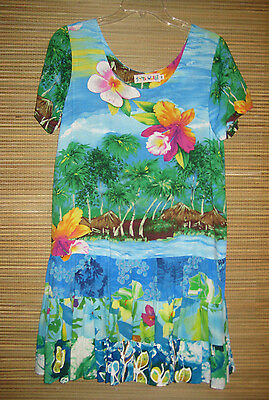 Jams World Hawaii Hattie Dress Orchid Island Medium M Unworn