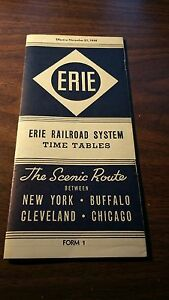 NOVEMBER-1938-ERIE-RAILROAD-FORM-1-SYSTEM-PUBLIC-TIMETABLE
