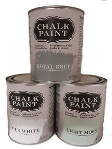 Details zu 9,60€/L Kreidefarbe Holz Farbe Shabby Chic Möbelfarbe Vintage  Chalk Paint 750ml