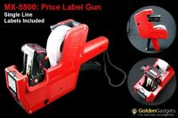 Mx-5500 Price Label Gun Kit With 2 Rolls Of Single Line Labels And Ink Refill