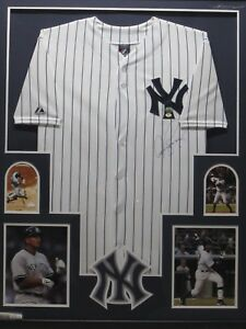 check out 4046f 457d4 Details about ALEX A-ROD RODRIGUEZ Signed NY Yankees Jersey Framed w/  Photos Mounted Memories