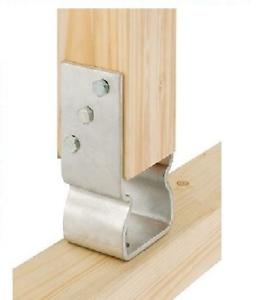Support Bracket Galvanized Iron U Shape For Square Wooden