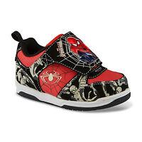 Marvel Spider-man Toddler Boy's Shoes Size 9 Light Up Black/red Cool Fast