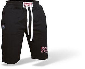 Paffen-Sport-LOGO-Short-schwarz-und-grau-S-XXL-Boxen-Training-Freizeit-MMA