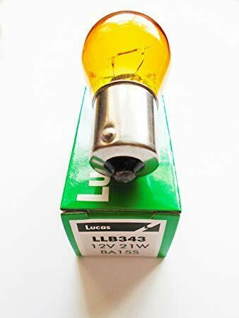 Classic Mini Front Indicator Unit Ampoule Ambre GLB343 Orange Lucas LLB343 4W1