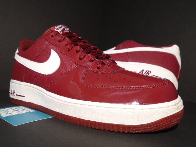 2011 2011 2011 NIKE AIR FORCE 1 '07 PATENT LEATHER BURGUNDY TEAM RED WHITE 315122-609 11 1f770e