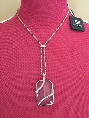Vintage NEW SWAROVSKI Brand AMAZING Ice BLUE CRYSTAL Pendant NECKLACE $195+ Rare