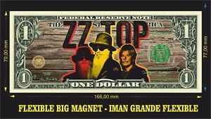 ZZ-Top-La-Grange-Tres-hombres-IMAN-BILLETE-1-DOLLAR-BILL-MAGNET