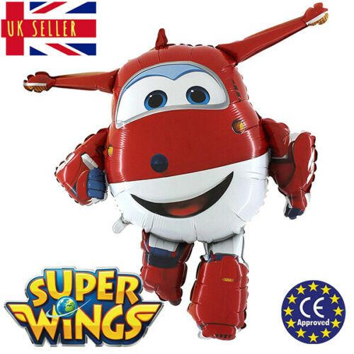GIANT Super Wings Jett CE Approved XL Birthday Foil Balloon Helium Party