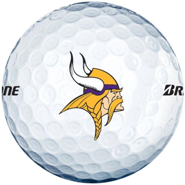3 Dozen Bridgestone E6 Mint / AAAAA (Minnesota Vikings NFL LOGO) Golf Balls