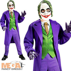 image is loading deluxe the joker fancy dress batman villian boys - Joker Halloween Costume Kids