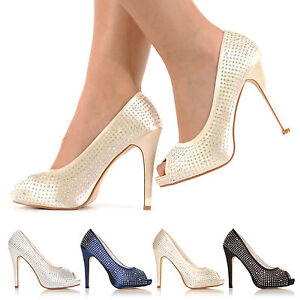 BRAND-NEW-WEDDING-PROM-PARTY-EVENING-DIAMANTE-HIGH-HEELS-PEEP-TOE-SHOES-SIZE-3-8