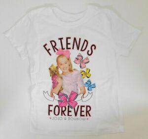 NWT nickelodeon JoJo Siwa girls short sleeve shirt pink fuzzy pocket