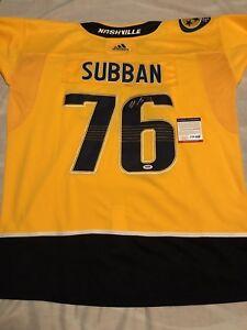 new style 0a452 1038b Details about P K Subban Signed Autographed Nashville Predators Jersey  Stanley Cup Psa/Dna