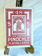 Vintage Playing Cards Bicycle 48 Rider Back King Riding on Box H1416