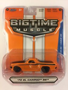 Jada-Bigtime-Muscle-039-70-1970-Chevy-El-Camino-SS-Orange-Chevrolet-Die-cast-1-64