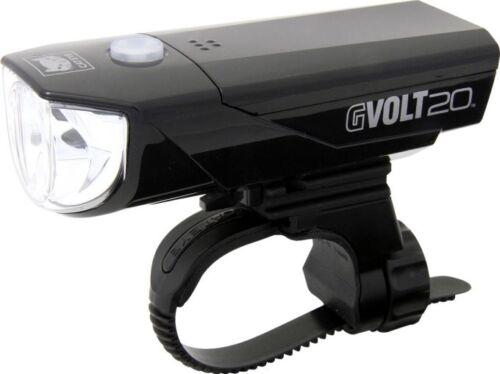 Cateye GVOLT20 LED 20 Lux Scheinwerfer  AA Batterie USB Rennrad Fahrradlampe