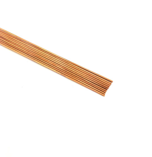 """DRAWN COPPER RODS .0240 OD X 12/"""" LONG LOT OF 10"""