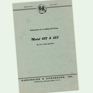 H&R MODEL 622 623 REVOLVER INSTRUCTIONS OWNER MANUAL 22 MAINTENANCE