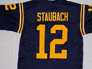 6c742e2b7f8 Image is loading ROGER-STAUBACH-NAVY-NAVAL-ACADEMY-FOOTBALL-JERSEY-QUALITY-