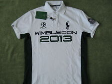RLX RALPH LAUREN Men's Custom-Fit Wimbledon 2013 Big Pony Mesh Polo S