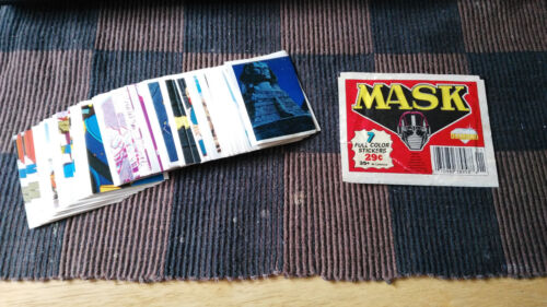 VINTAGE 1987 M.A.S.K DIAMOND STICKERS LOT 5 FOR $1.25 COMPLETE YOUR ALBUM !!