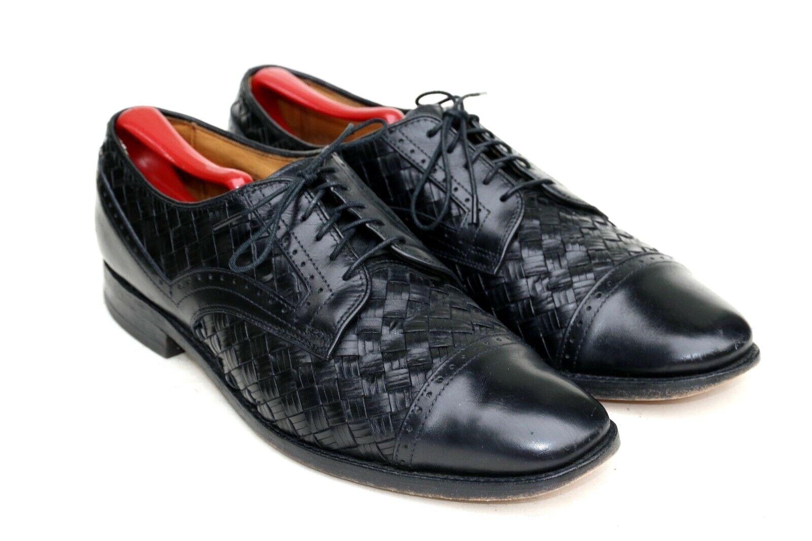 alta qualità e spedizione veloce Allen Edmonds Crandon nero Leather Woven Cap Cap Cap Toe Oxford Dress scarpe 3304 SZ 10B  prezzo all'ingrosso