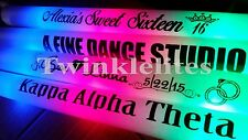 25 Personalized LED Foam Sticks Light-Up Customized Batons DJ Custom Glow Wands