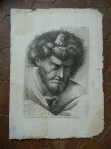 Stampa Ritratto Pl. Xxiii Incisione Acquaforte Paolo Fidanza Raphael Vaticano