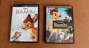 DISNEY-BAMBI-DVD-LOT-BAMBI-amp-BAMBI-2-DISC-SPECIAL-PLATINUM-EDITION