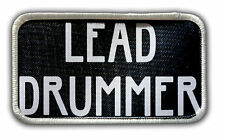 Patch - Lead Drummer Heat Seal / Iron on Patch for jackets, shirts, tote bags,