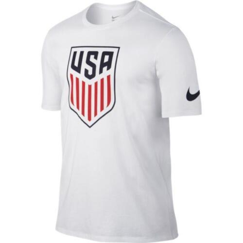 Nike Men/'s USA Crest T-Shirt 742173-100 White