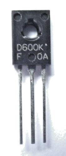 2SD600KF  Marked D600K  F Sanyo Trans GP BJT NPN 120V 1A 3-Pin TO-126