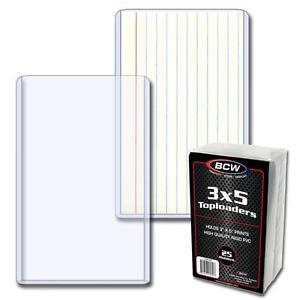 4-Packs-100-BCW-Brand-3-x-5-INTERIOR-Topload-Card-Storage-Holders
