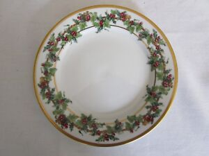 MACYS-ROYAL-GALLERY-The-Holly-amp-The-Ivy-Salad-Dessert-Plate-8-1-4-034-1993-Holiday