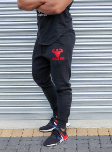Mens Slim Fit Tracksuit Trousers Bottoms Skinny Gym Jogging Joggers Pants New