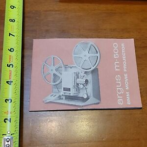 ARGUS M 500 8MM MOVIE PROJECTOR BOOKLET MANUAL OWNERS USER VINTAGE