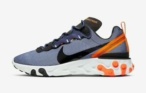 Nike-React-Element-55-SE-SIZE-10-and-11-Midnight-Navy-Total-Orange-CI3831-400