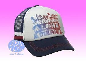 43ba4f365 Details about New Roxy Dig Aloha America Trucker Snapback Cap Hat