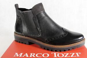 Marco-Tozzi-Botines-botas-botas-Botas-Con-Forro-negro-25453neu