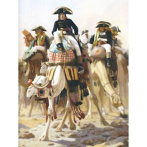 Gerome-Napoleon-Bonaparte-Camel-Egypt-Painting-XL-Canvas-Art-Print